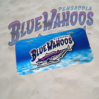 Pensacola Blue Wahoos Airbrush Blue Wahoos License Plate