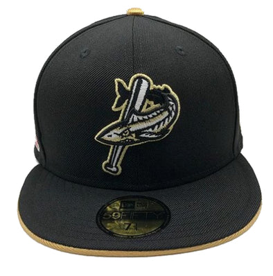 Pensacola Blue Wahoos New Era Patriot Series Cap Black & Gold