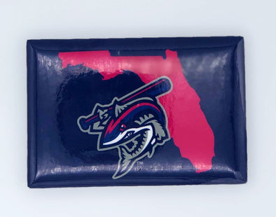Pensacola Blue Wahoos Clobberfish Fridge Magnet