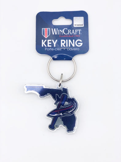 Pensacola Blue Wahoos Batfish Florida Key Ring