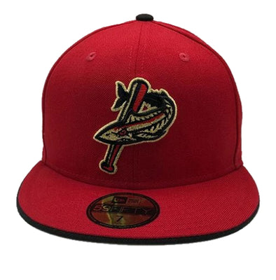 Pensacola Blue Wahoos New Era Patriot Series Cap Red & Gold