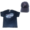 Pensacola Blue Wahoos Basic Tee and Replica Cap Bundle