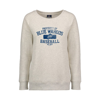 Pensacola Blue Wahoos Cloud Fleece Raglan Crew