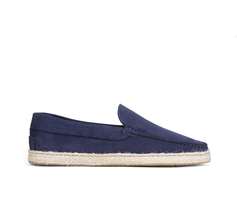 Navy Nubuck Seaside Loafer Aurélien