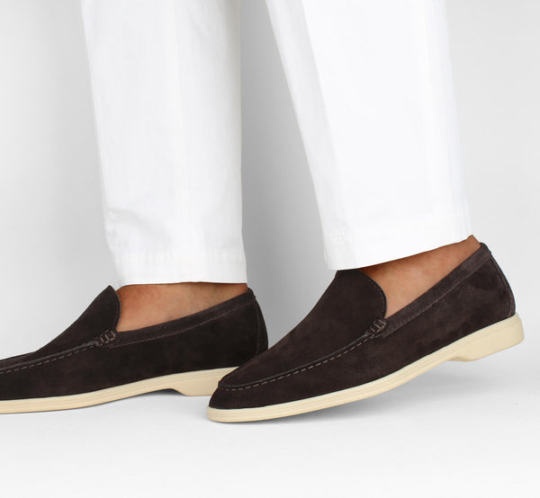 Chocolate Suede Yacht Loafer Aurélien