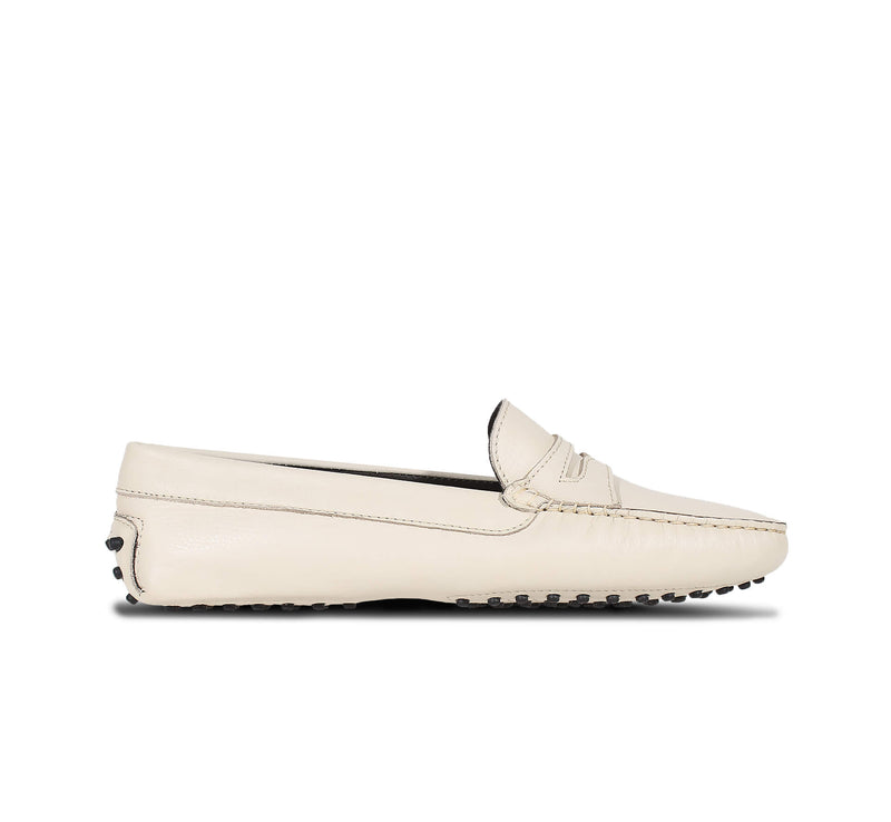 Off-white Leather Driving Shoes Aurélien