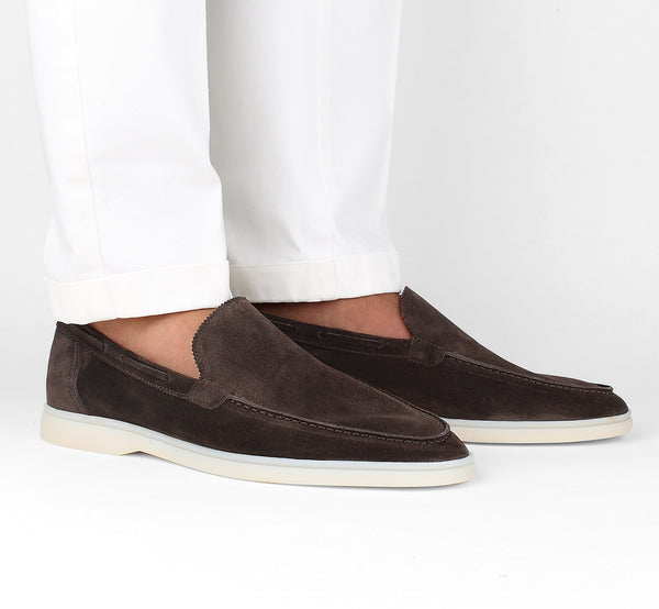 Warm Grey Yacht Loafers Aurélien