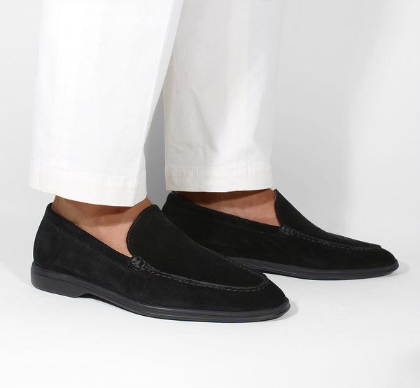 Black Suede Yacht Loafer