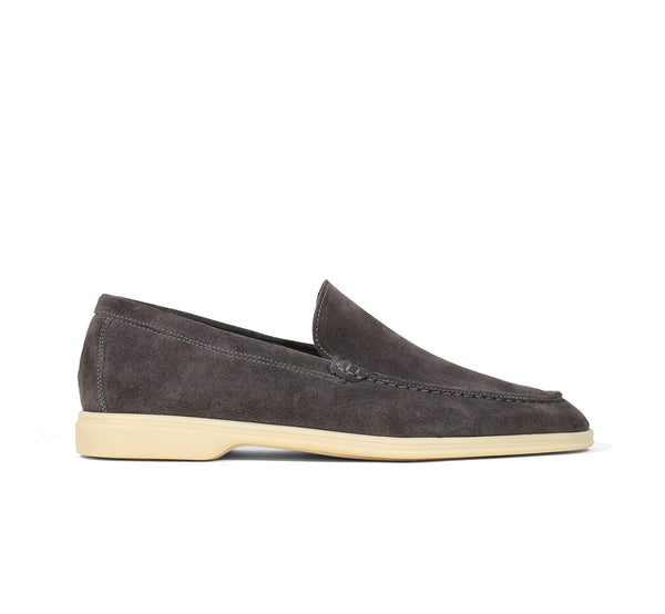 Warm Grey Suede Yacht Loafer Aurélien