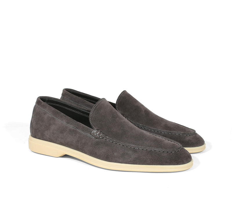 Brown Suede Yacht Loafer
