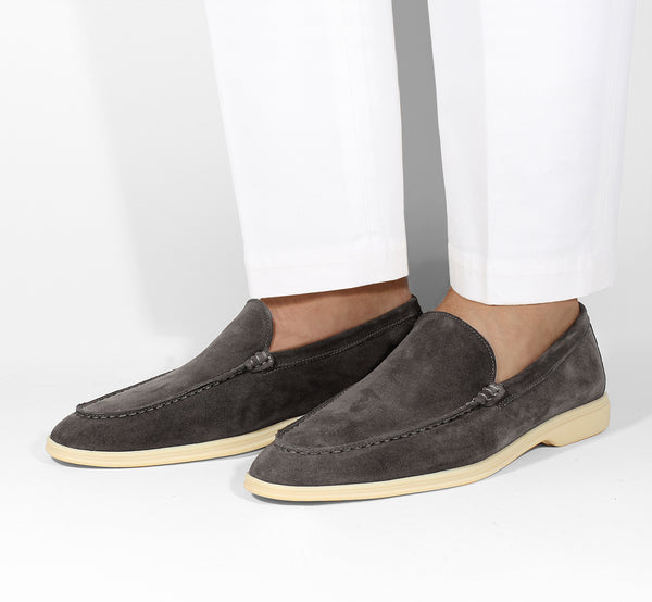 Brown Suede Yacht Loafer Aurélien