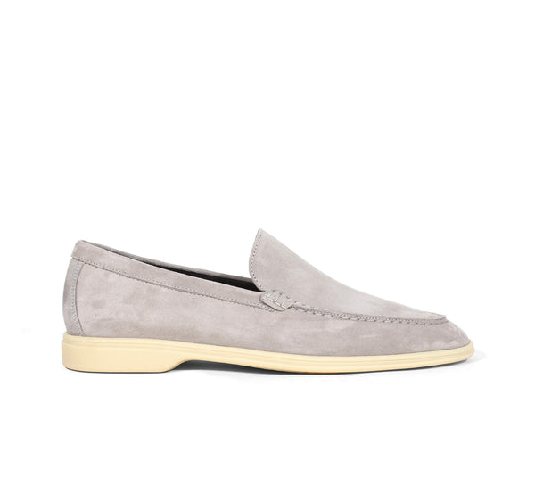 Light Grey Suede Yacht Loafer