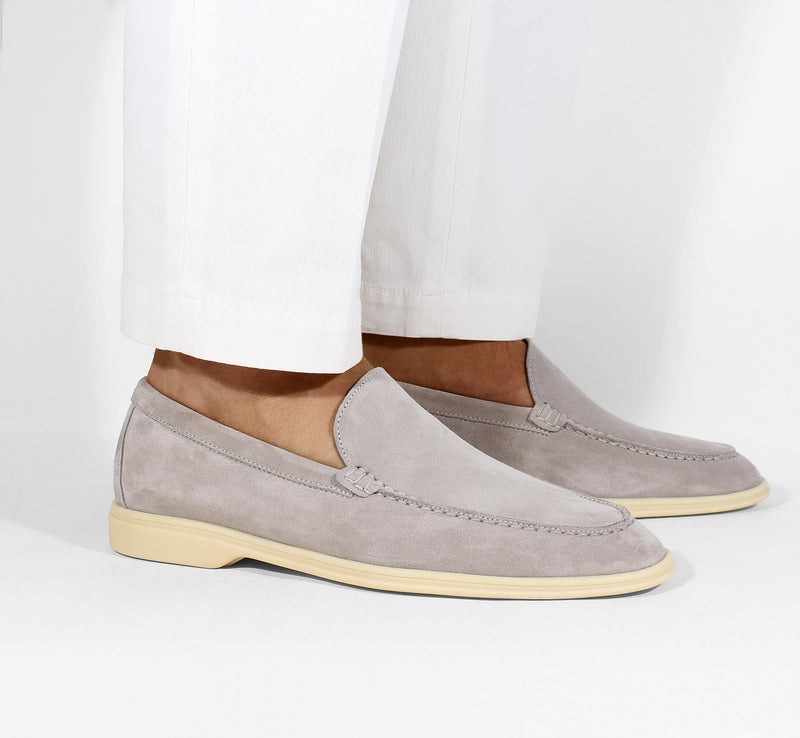 Light Grey Suede Yacht Loafer Aurélien