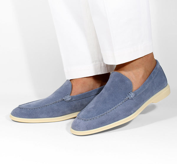 Light Blue Suede Yacht Loafer
