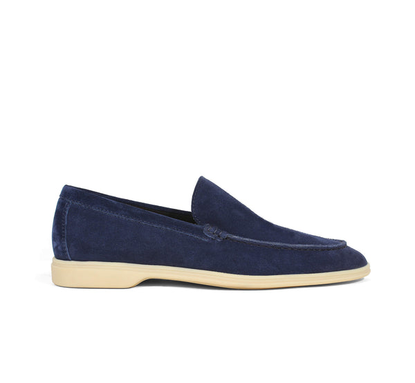 Navy Suede Yacht Loafer