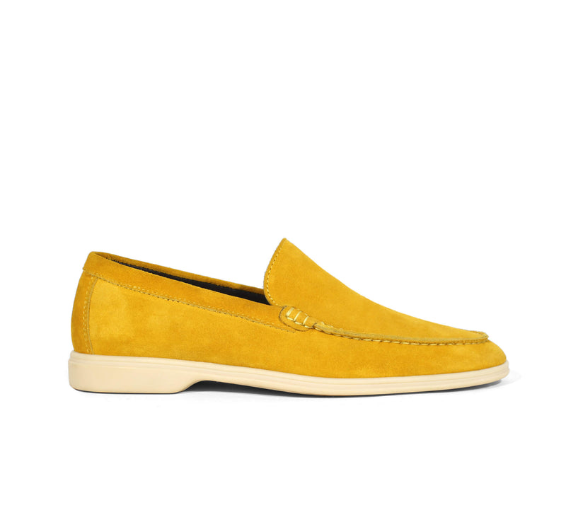 Yellow Suede Yacht Loafer