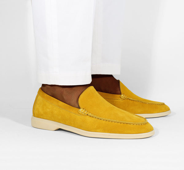 Yellow Suede Yacht Loafer Aurélien