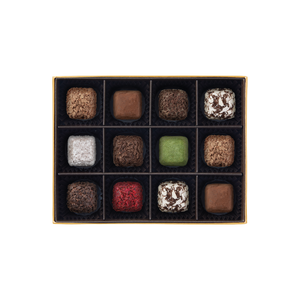 Cube Truffles, 12 pieces (dark)