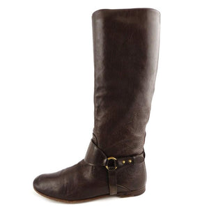 GUCCI BROWN DEERSKIN RIDING BOOTS