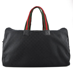 GUCCI CLASSIC BLACK GG CANVAS SOFT DUFFLE