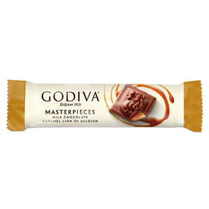 Godiva Masterpieces Milk Chocolate Caramel Lion of Belgium Bar 1.1 oz.