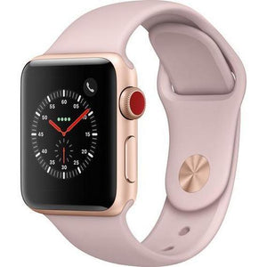 Apple Watch Series 3 38mm with GPS + Cellular (Gold Alum Case & Pink Sand Sport Band)
