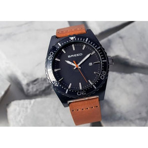 Breed Ranger Leather-Band Watch w/Date