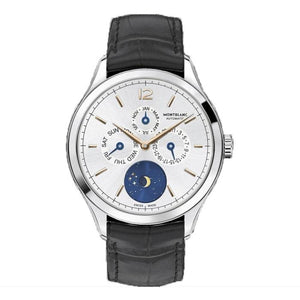 MONTBLANC HERITAGE CHRONOMƒTRIE ANNUAL CALENDAR STAINLESS STEEL/LEATHER STRAP 42MM