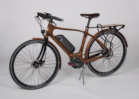 Sojourn Cyclery Electric Wood Bicycle