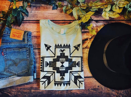 Aztec Arrows Baby Blue Tee
