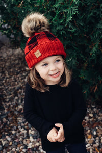 Buffalo Plaid Hat Red n Black - Adult or Child size