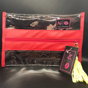 Medium Clear MAKEUP Junkies Bag with tassel
