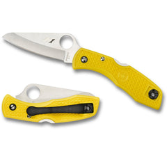 Spyderco Salt 1 Yellow H1 Plain Blade