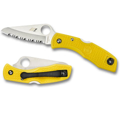 Spyderco Salt 1 Yellow H1 Serrated Blade