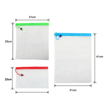 Load image into Gallery viewer, 5pcs/lot Reusable Mesh Produce Bags