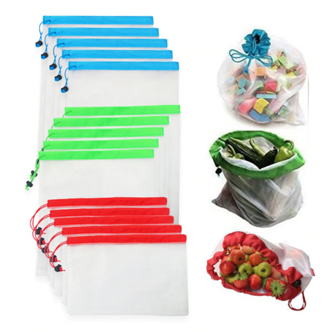 5pcs/lot Reusable Mesh Produce Bags