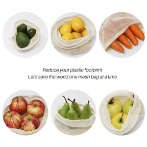 Set of 6 Reusable Mesh Produce Bags