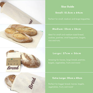 100% Organic Cotton Bread Bag
