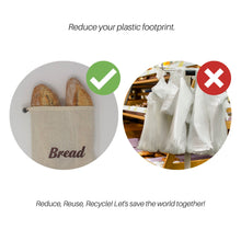 Load image into Gallery viewer, 100% Organic Cotton Bread Bag