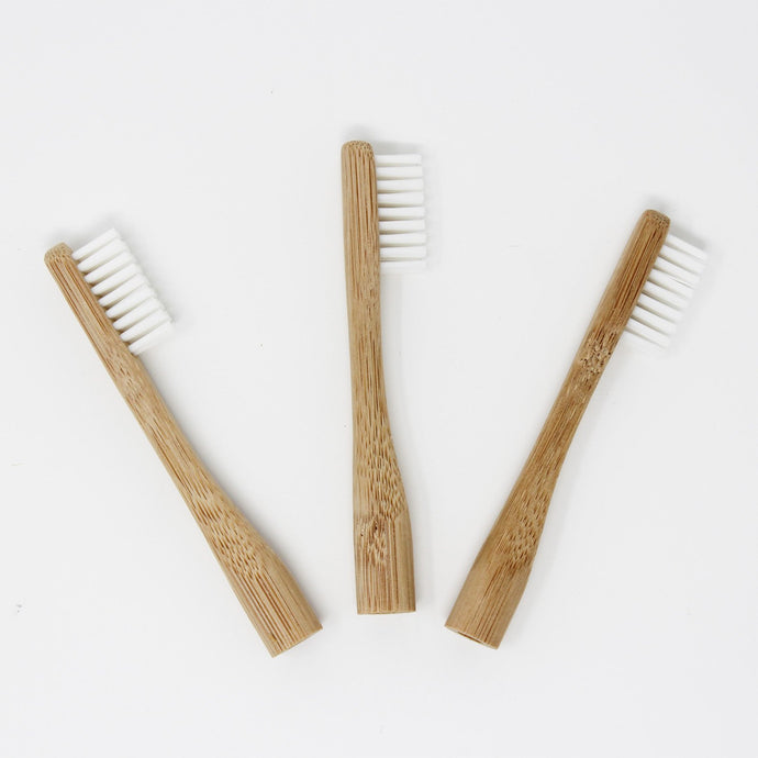 3 Bamboo Replacement Heads For Bamboo Toothbrush