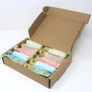 5 Pack Reusable Bamboo Fibre Kitchen Cleaning Cloths