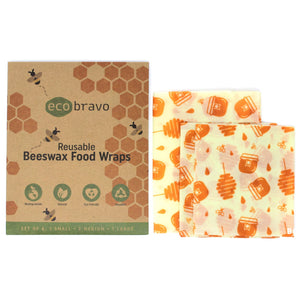 Reusable Beeswax Food Wraps - Set of 4