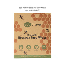 Load image into Gallery viewer, Reusable Beeswax Food Wraps - Set of 5