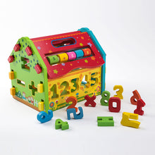 Load image into Gallery viewer, Wooden Educational Toy House 1