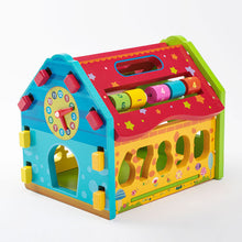 Load image into Gallery viewer, Wooden Educational Toy House 2