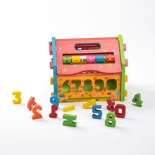 Load image into Gallery viewer, Wooden Educational Toy House 3