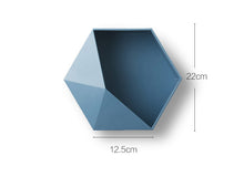 Load image into Gallery viewer, Nordic Hexagon Wall Storage Rack Organiser