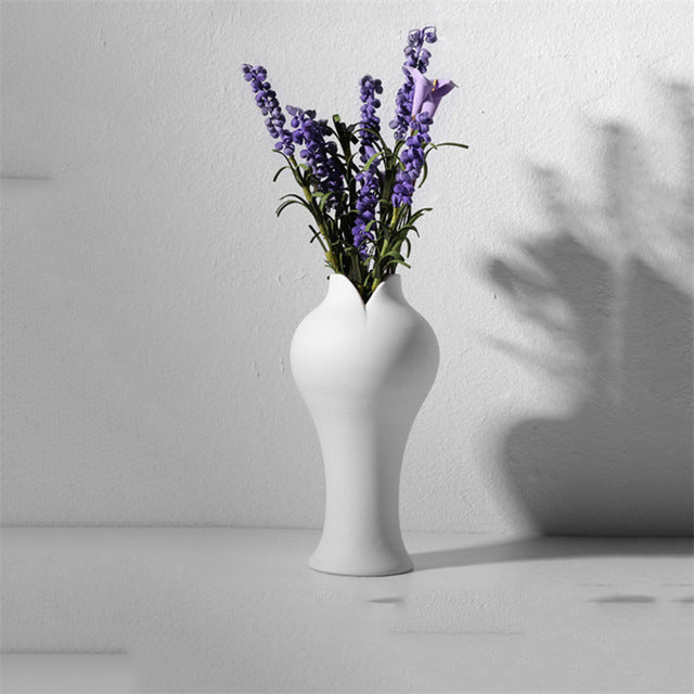 White Hemp Rope Flower Vase