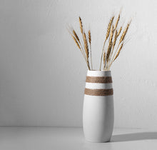 Load image into Gallery viewer, White Hemp Rope Flower Vase
