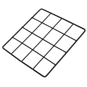 Metal Wire Wall Grid Memo Board + 10pcs Wooden Clips